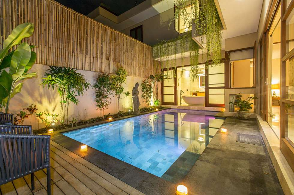 4-star 2 bedroom Villas near the coastal area of Kuta