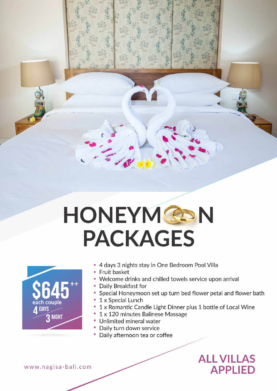 Honeymoon Package at Beautiful Bali Villas